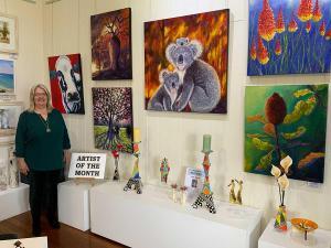 Christine Hopkins Artist of the Month October 2020.