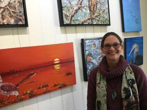 Kristy-Ann Duffy Yandina Historic House Artist of the Month June 2020.
