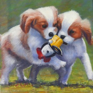 Sally Thomson - Puppies at Play